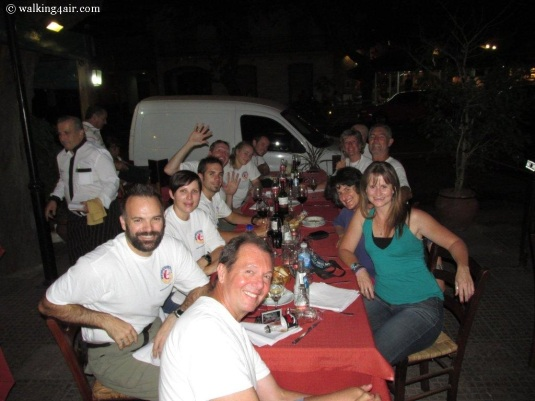 Our first dinner together as a team in Mendoza, Argentina