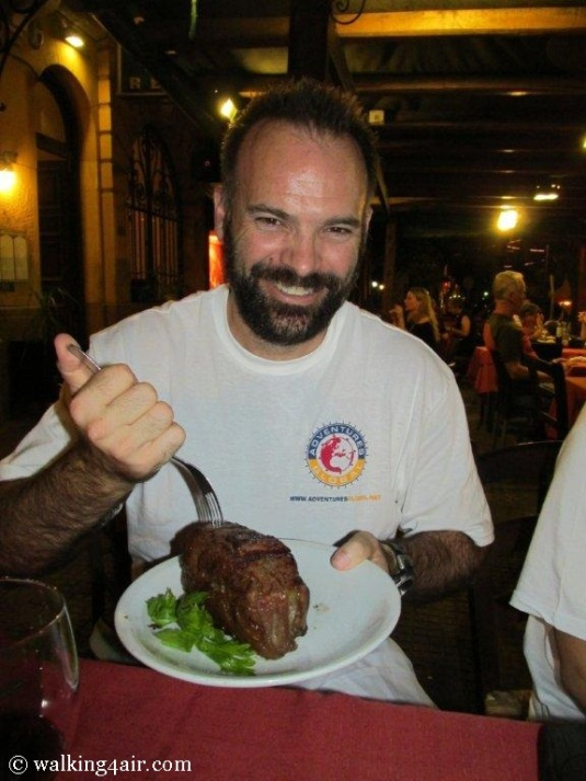 Everything in Argentina is super-sized, especially their steaks.