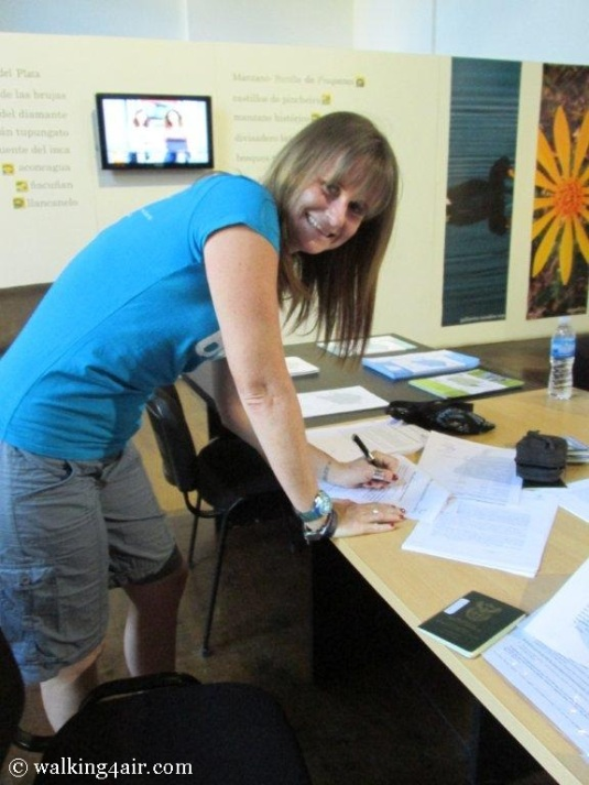 Signing my life away... So ready for this extreme adventure!