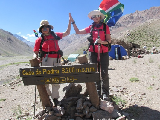 Camp Casa de Piedra at 3200m!