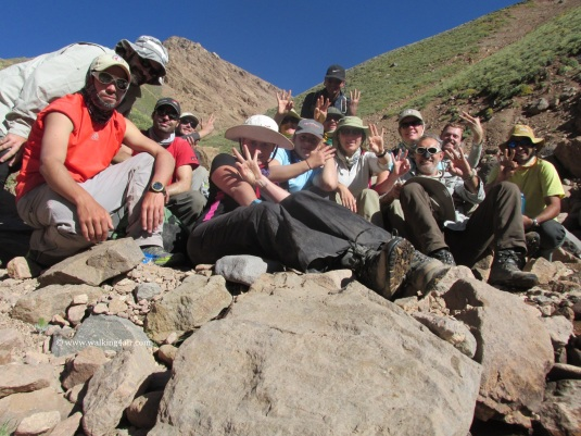 Here's the team with our Day 3 photograph. Maybe it was altitude but we didn't remember to do our daily pics every day!