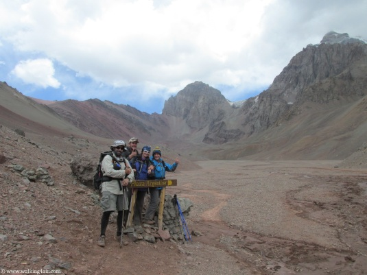 Steve, Jake, Judi and I close to Base Camp.