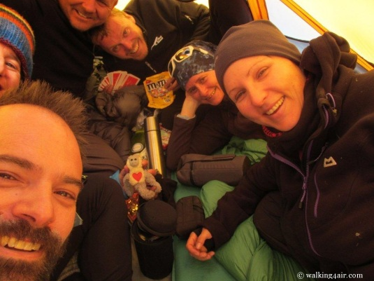 Six team mates crammed into a tent, playing Monopoly. One of the best afternoons ever, thanks for the great memories guys!!