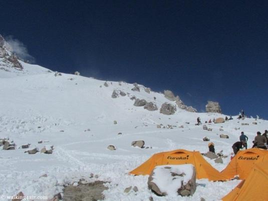 Camp 2 under snow!