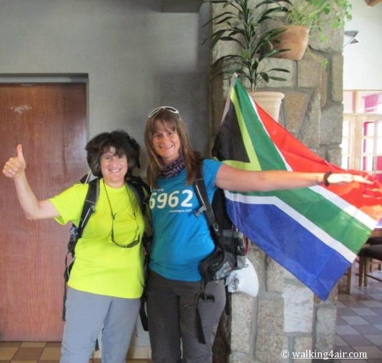 Judi (my Kili team mate and since friend) and I, clean for the last time and ready to trek!