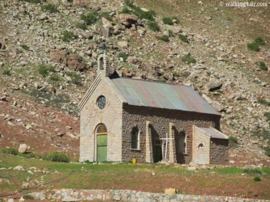 A little church across the river.