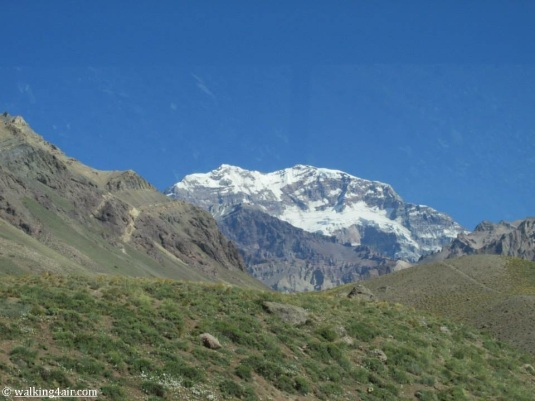 Aconcagua, snow capped, teasing us with what's to come.